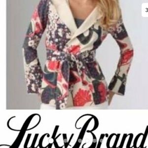 Lucky Brand Cherry Blossom Wrap Hooded Jacket (M)